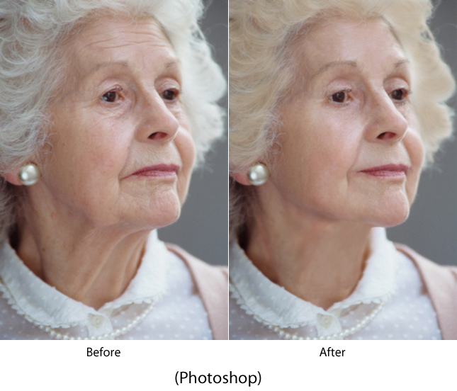 Elderly Before and After Photoshop picture