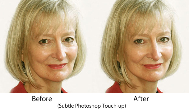 Middle-aged Before and After Photoshop picture