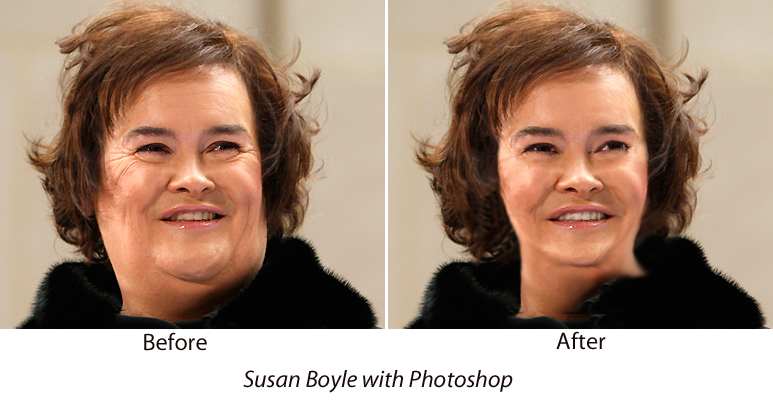 Susan Boyle Before and After Photoshop